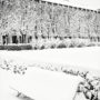 Jardin du Palais-Royal sous la neige / Grand banc