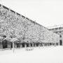 Jardin du Palais-Royal sous la neige / Allée