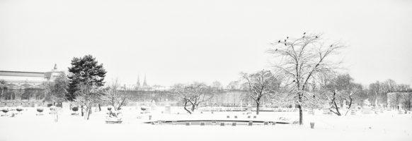 Un bassin sous la neige
