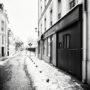 Puteaux / Rue Benoît Malon / Neige