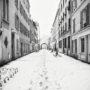 Puteaux / Rue Saulnier / Neige
