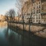 Un matin en hiver au bord de la Seine