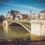 Lente décrue au Pont de Sully