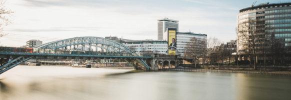 Le pont Rouelle en hiver