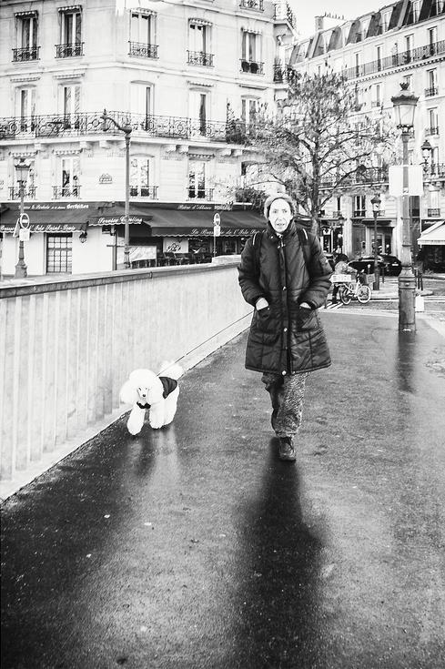 Mme Hubert et son chien Tommy
