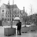 Sous la pluie non loin de Saint-Eustache