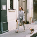 Marie et son chien Romain