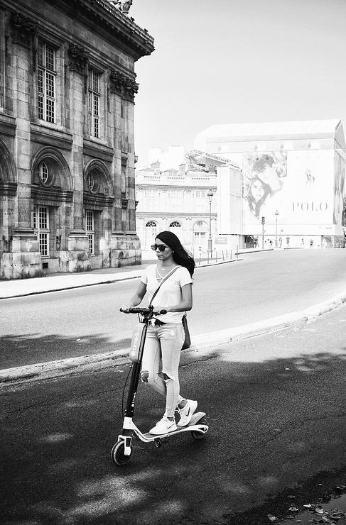 Plus vite sur sa patinette