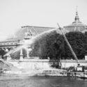 Exercice pour les pompiers non loin du Grand-Palais