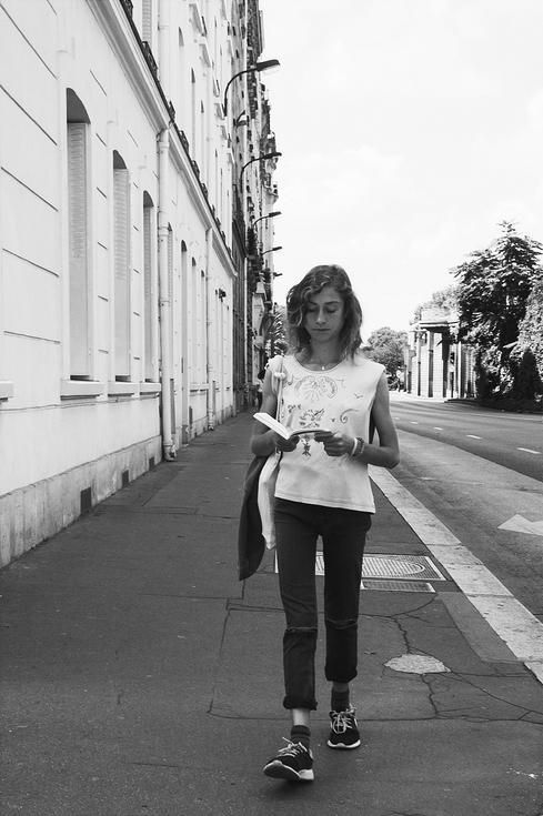 Lire et marcher