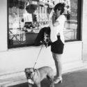 Jeanne Marivin et son chien Rufus