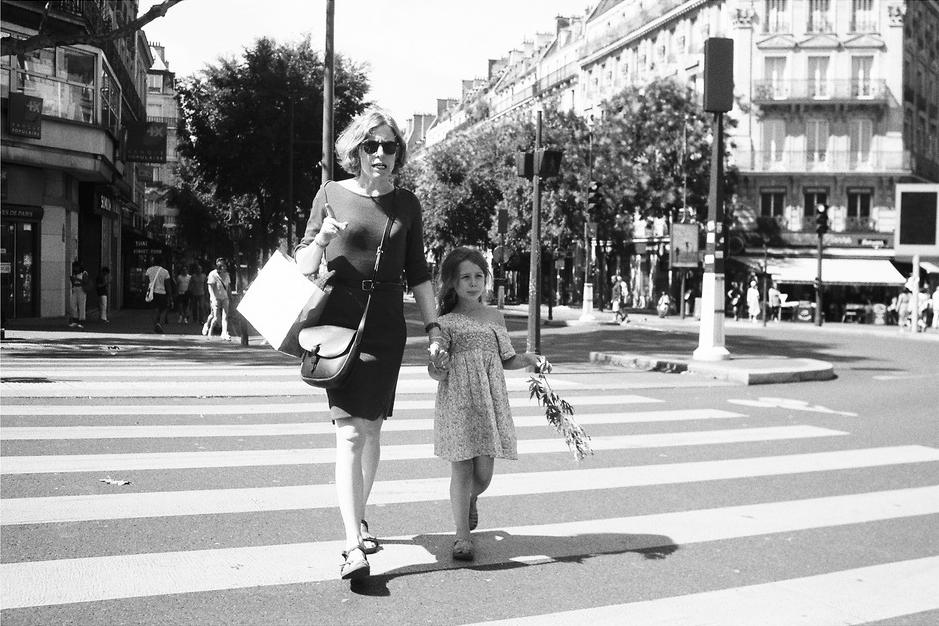 La petite Lisa et sa maman