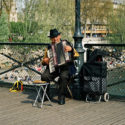 L'accordéoniste au chapeau