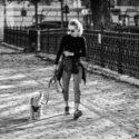 Mme Piquet et son chien Pluto
