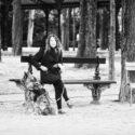 Amanda et son chien Pollux