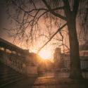 Le soleil se lève sur le pont de Bir-Hakeim