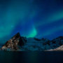 Aurore boréale / Hamnoy / Lofoten / Norvège