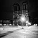 Cathédrale Notre-Dame de Paris avant le lever du jour