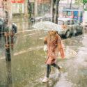 Sous une pluie intense