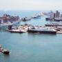 Port de Barcelone depuis le téléphérique