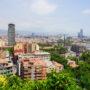 Barcelone depuis le parc de Montjuïc
