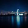 Tokyo / Nuit / Rainbow Bridge / Japon