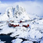 Hamnøy en hiver / Lofoten / Norvège