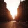 Barcelone / Contre-jour / Hiver