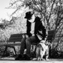 Marcus et son chien Barnabé