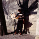 Peinture sur chevalet
