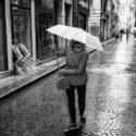 Le parapluie suspendu